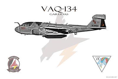 Prowler Digital Art - Vaq-134 Garudas by Clay Greunke