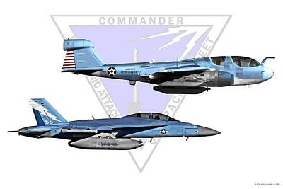 Prowler Digital Art - Vaq Centennial Jets by Clay Greunke