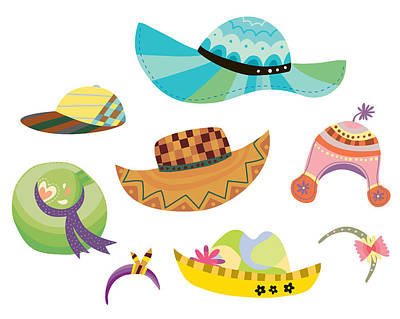 Various Hats Art Print