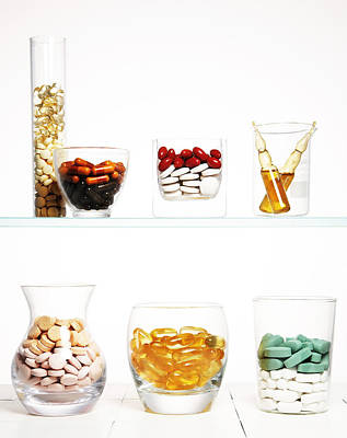 Healthcare And Medicine Photograph - Various Pills And Vitamins by Multi-bits
