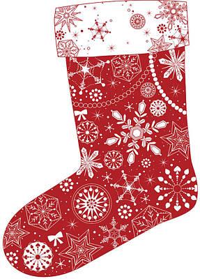 Christmas Colors Digital Art - Various Plants Patterns In Sock by Eastnine Inc.