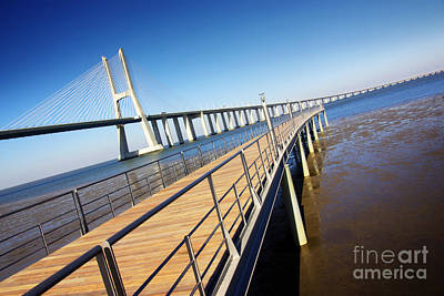 Vasco Da Gama Bridge Art Print by Carlos Caetano