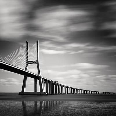 Vasco Da Gama Bridge IIi Art Print by Nina Papiorek