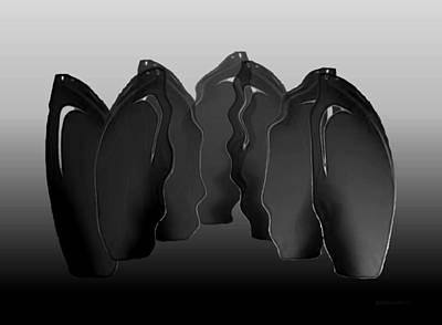 Bottle Digital Art - Vase Combinations by Mario Perez