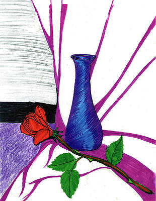 Drawing - Vase by Harry Richards