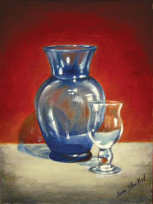 Vase N Glass Goblet Art Print