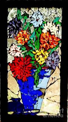 Vase Of Flowers Art Print by Brenda Marik-schmidt
