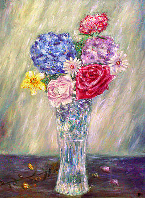 Vase Of Flowers Painting - Vase Of Flowers by Ronald Haber