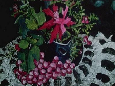 Vase On Doily Art Print