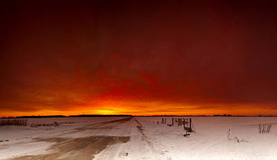 Sky Fire Photograph - Vast Sunset by Cale Best