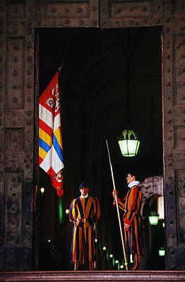 Vatican Swiss Guards Art Print by Carlos Diaz