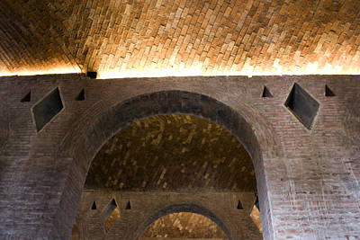 Art Print featuring the photograph Vaulted Brick Arches by Lynn Palmer