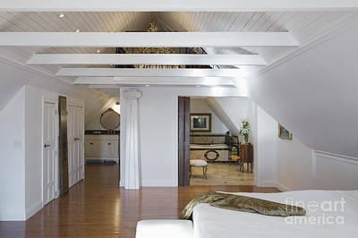 Vaulted Ceiling Bedroom Art Print by Andersen Ross