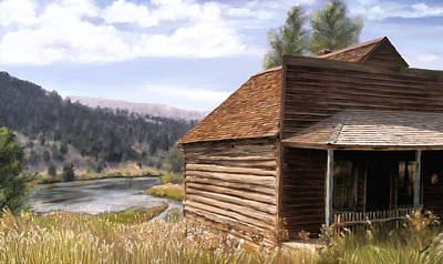 Montana Artist Painting - Vc Backyard by Susan Kinney