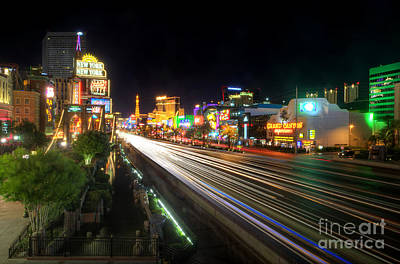 Photograph - Vegas Light Trails by Yhun Suarez