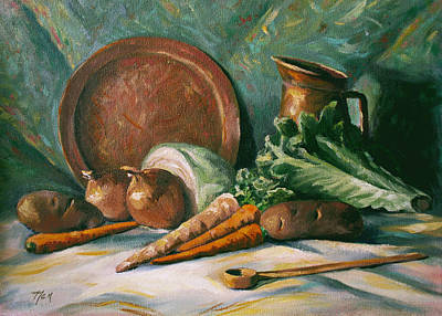 Painting - Vegetable Melody by Nancy Griswold