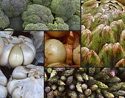 Vegetable Montage Art Print by Forest Alan Lee