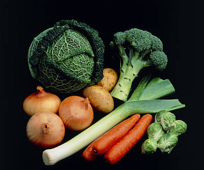Vegetable Selection Art Print by Damien Lovegrove