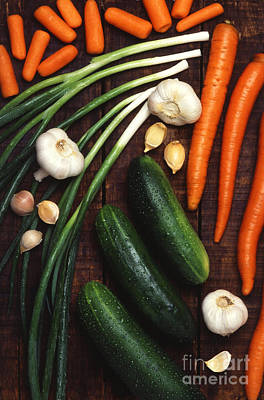 Scallion Photograph - Vegetables by Science Source