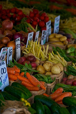 Montreal Streets Photograph - Veggies by Mike Horvath