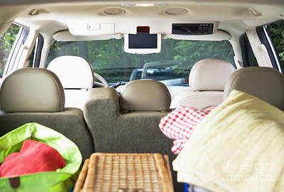 Vehicle Packed For Picnic Art Print