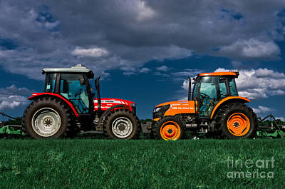 Tractors Photograph - Vehicular Osculation by Warren Sarle