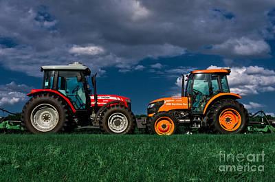 Tractor Wall Art - Photograph - Vehicular Osculation by Warren Sarle