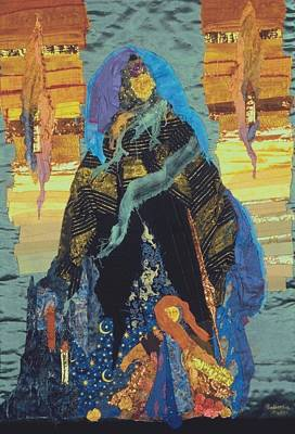 Tapestry - Textile - Veiled Woman With Spirit Child by Roberta Baker