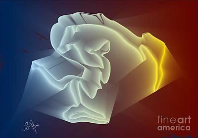 Art Print featuring the digital art Velvet by Leo Symon