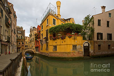 Photograph - Venetian Canal by Dennis Hedberg
