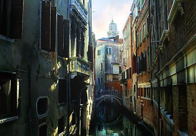 Venetian Canal Art Print by Jan Vidra