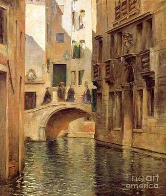 Painting - Venetian Canal by Pg Reproductions