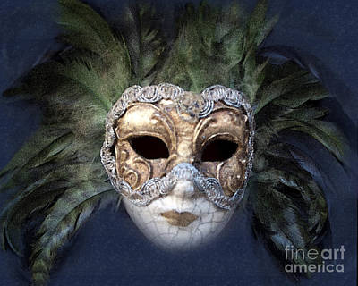 Venetian Face Mask Serie A Print by Heiko Koehrer-Wagner