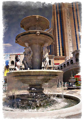 Photograph - Venetian Fountain - Impressions by Ricky Barnard