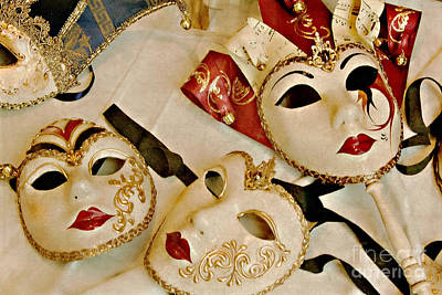 Photograph - Venetian Masks by Gerda Grice