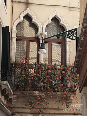 Venetian Balcony Painting - Venetian Romance by Joyce Hutchinson