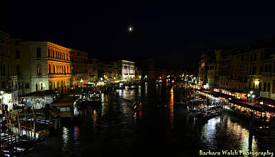 Photograph - Venice At Night by Barbara Walsh