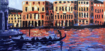 Venice At Twilight Print by Anthony Falbo