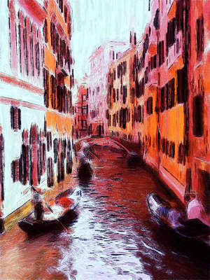 Venice By Gondola Art Print by Steve K