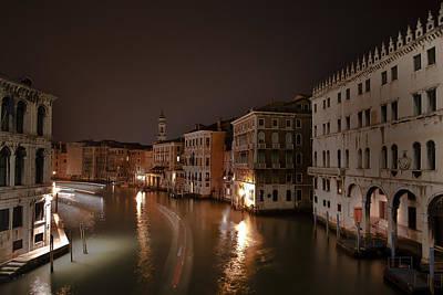 Venice By Night Art Print by Joana Kruse