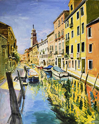 Italian Landscapes Painting - Venice Canal by Conor McGuire