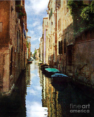 Art Print featuring the photograph Venice Canal by Deborah Smith