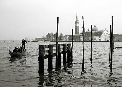 Venice Canal Grande II Art Print by Nina Papiorek