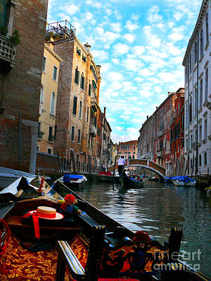 Art Print featuring the photograph Venice Canal by Jeanne  Woods