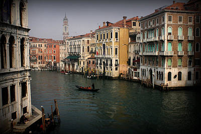 Water Photograph - Venice Canal by Kevin Flynn
