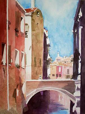 Painting - Venice Canal by Richard Willows