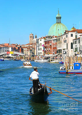 Art Print featuring the photograph Venice Cell Phone by Jeanne  Woods