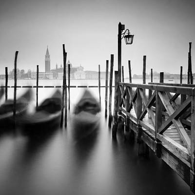 Venice Gondolas II Art Print by Nina Papiorek