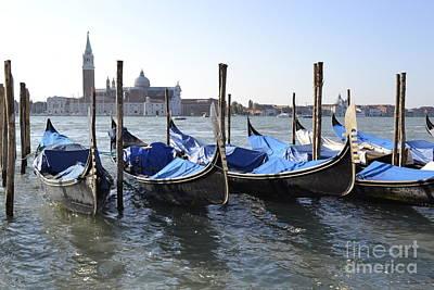 Art Print featuring the photograph Venice Gondolas by Rebecca Margraf
