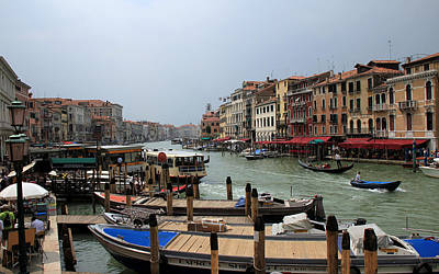 Photograph - Venice Grand Canal 1 by Andrew Fare